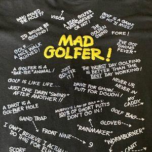 Vintage Funny Black Golfer Shirt